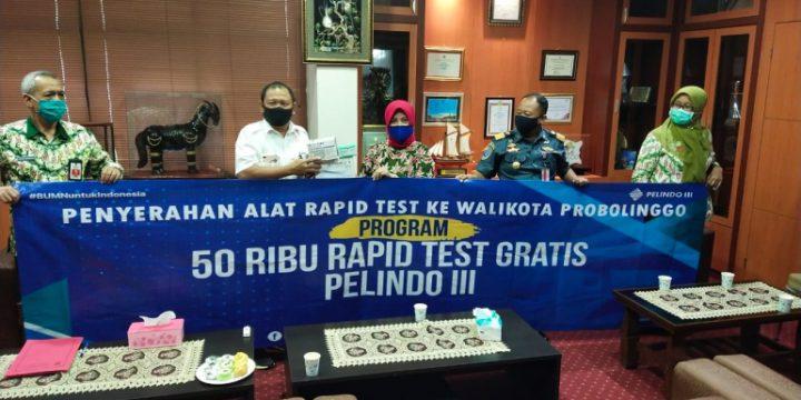 Pelindo-KSOP Serahkan CSR Alat Rapid Test