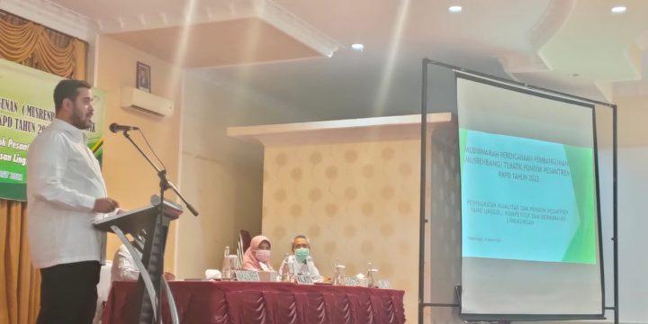 Bappeda Litbang Undang 33 Pesantren dalam Musrenbang Tematik, Usung Tema Lingkungan
